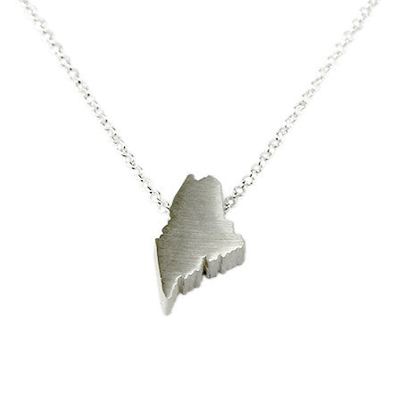 Maine Silhouette Necklace
