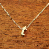 Initial Necklace - T