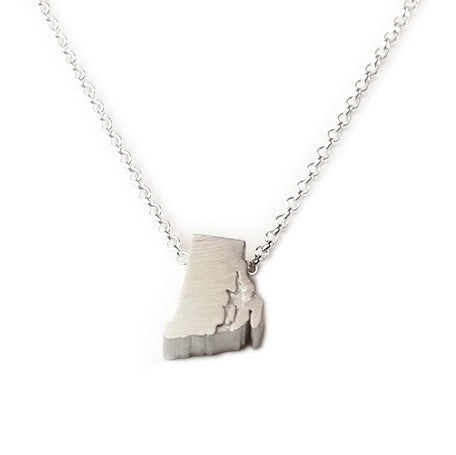 Rhode Island Silhouette Necklace