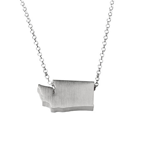Washington State Silhouette Necklace
