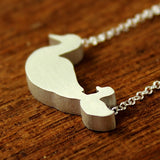 Duck Mom and Baby Silhouette Necklace