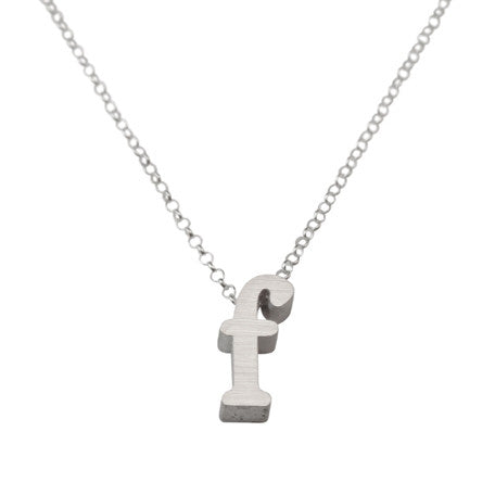 Initial Necklace - F
