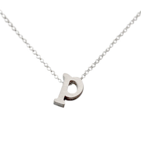 Initial Necklace - P