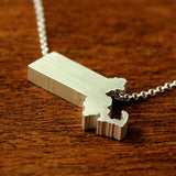 Massachusetts Silhouette Necklace