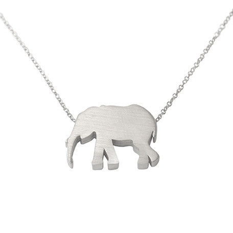 Elephant Silhouette Necklace