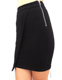 Asymmetric Skirt in Black