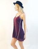 Tribal Lace Intermix Dress in Wine