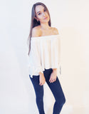 Basic Off Shoulder Top (White)