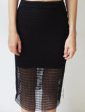 Netted Skirt in Black