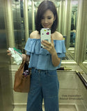 2 Waze Denim Off Shoulder / Tube Top