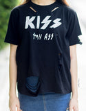 Kiss My A** T-Shirt - Black