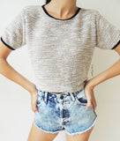 Knitted Crop T-shirt