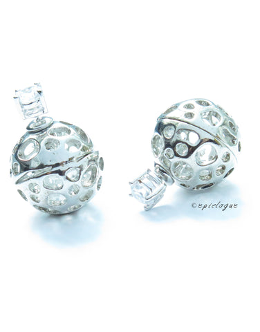 Double Globe Earrings