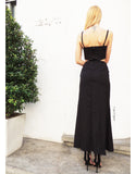 Cut-out Maxi Dress in Black
