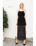 Laced Maxi Dress (Black/White)