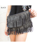 Fringe Bag (Black/Grey)