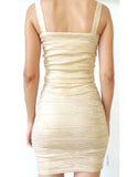 Streaks of Gold Bandage Skirt