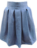 Pleat Skirt in Blue
