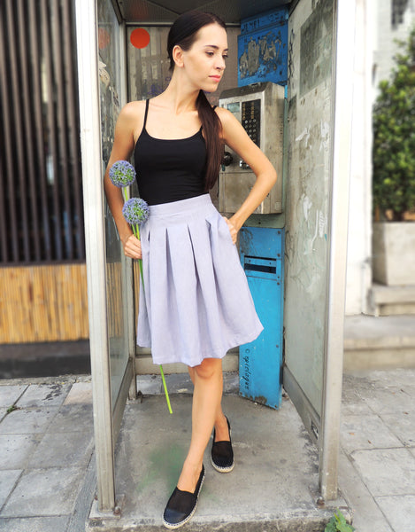 Pleat Skirt in Lavender