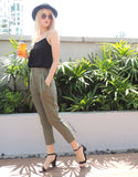 Class-chic Pants in Olive