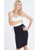Glitz Pencil Skirt in Black