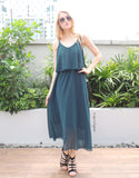 Go-with-the-Flow Maxi Dress in Teal