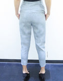 Classic Structured Pants in Grey