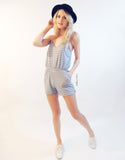 Stripe Playsuit in Grey