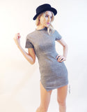 Ribbed Classic Dress in Grey