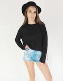 Crop Jumper in Black