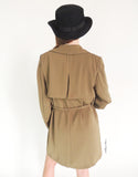 Longline Trench Coat in Olive