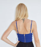 Class-chic Crop Top in Blue