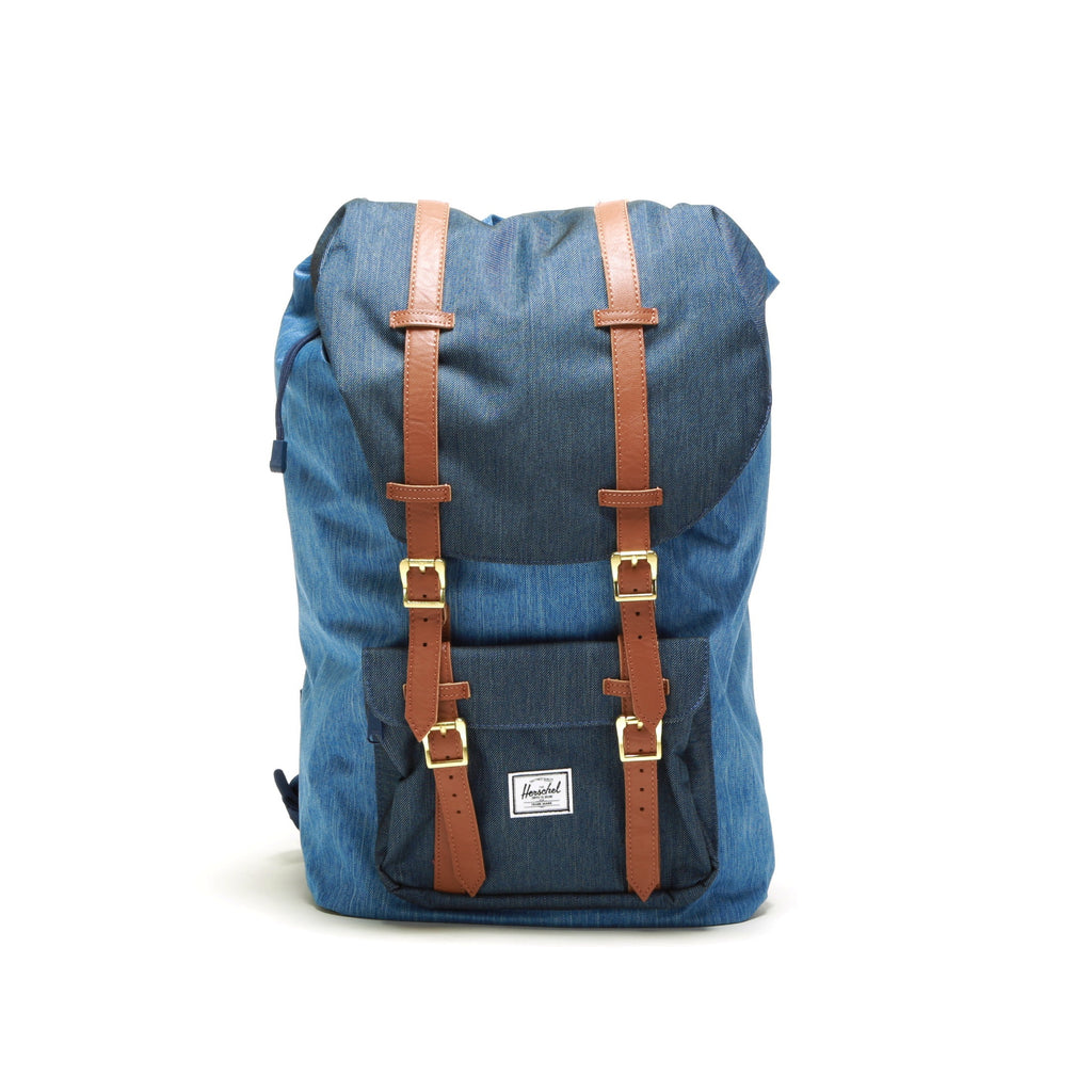 b5461120f90 Little America Backpack - Faded Denim Indigo Denim – PRIME