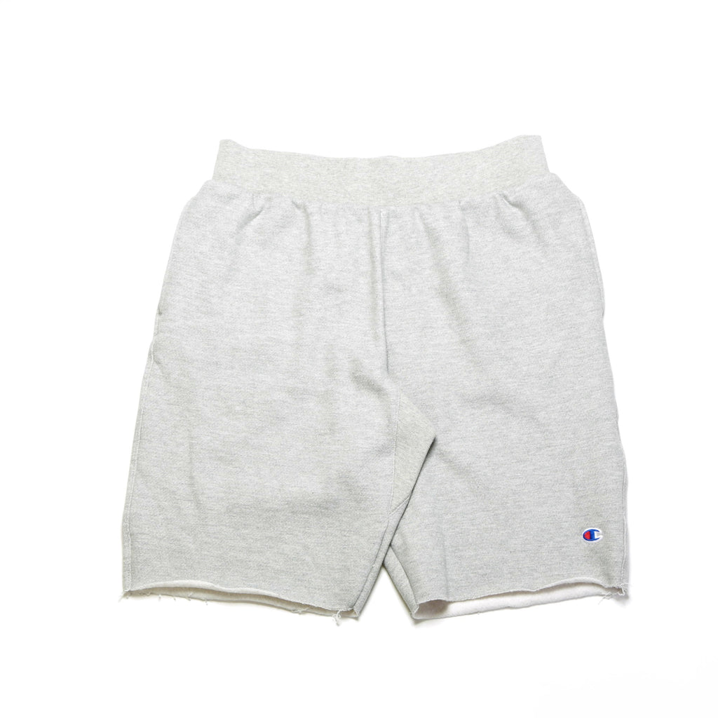 Reverse Weave Cut Off Shorts - Oxford Grey