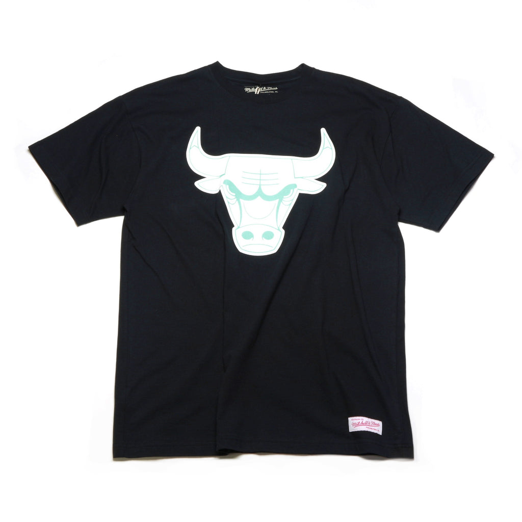 Glow in the Dark Logo Tee - (Chicago Bulls) Black