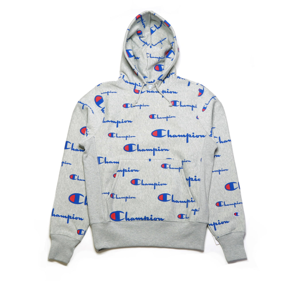 Reverse Weave PO Hoodie - (All Over Print) Oxford Grey