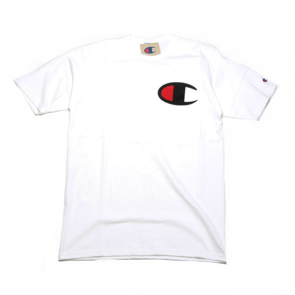 a6bee2ea4 ... Reverse Weave Tee - (C Patch) White ...