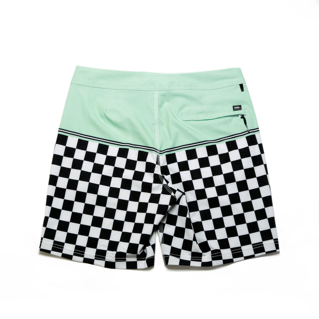 "Newland Boardshort 18"" - Mist Green/Checkerboard"