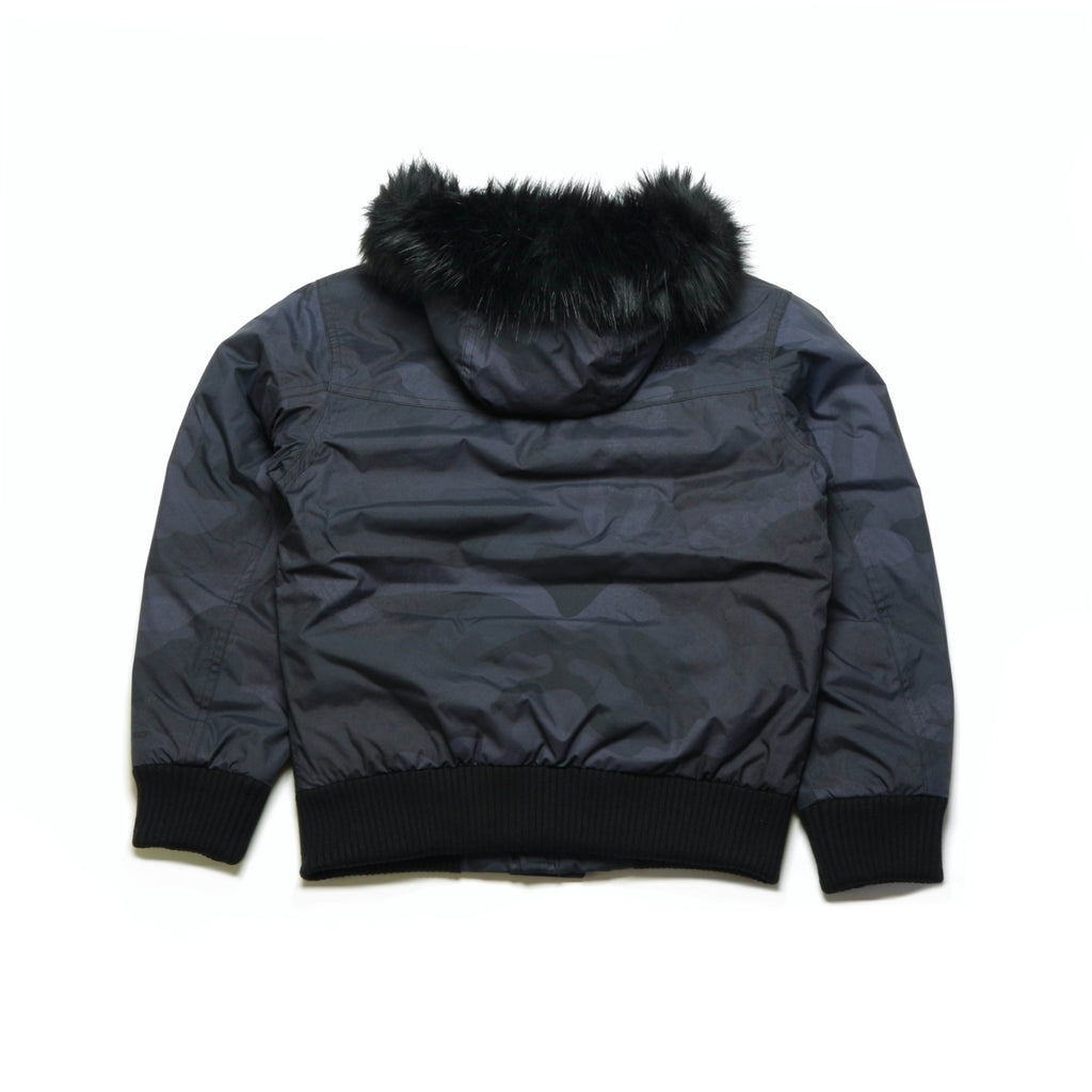 Boys' Gotham Down Jacket - Black Waxed Camo Print [PAST SEASON - SALE]