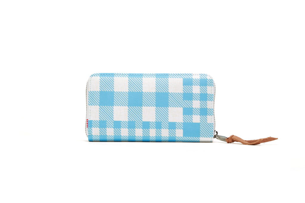 Thomas Wallet - Gingham Alaskan Blue