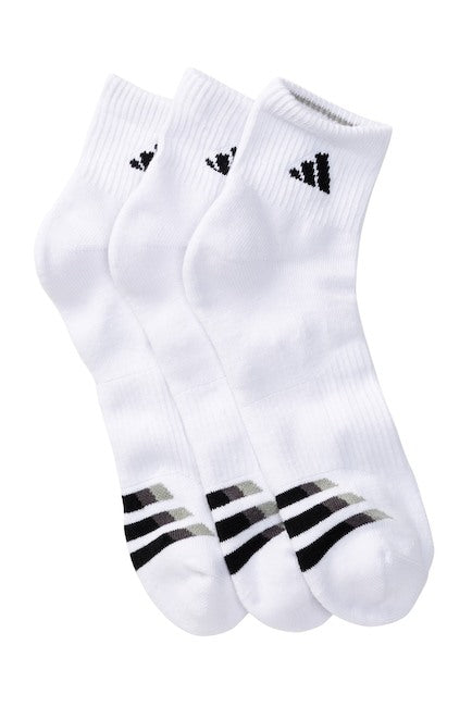Cushioned Quarter Socks - (3-Pack) White