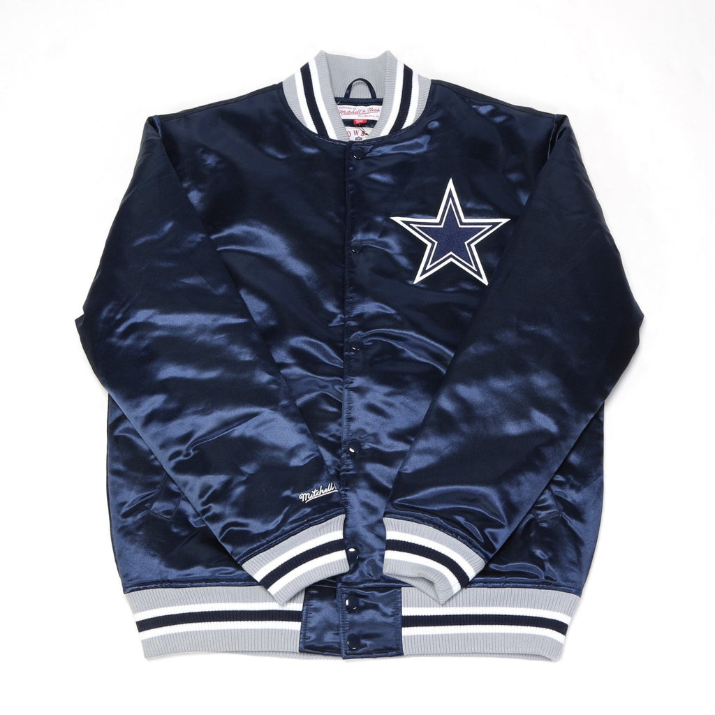 NFL Satin Jacket - (Dallas Cowboys) Navy