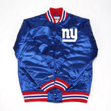 NFL Satin Jacket - (New York Giants) Blue