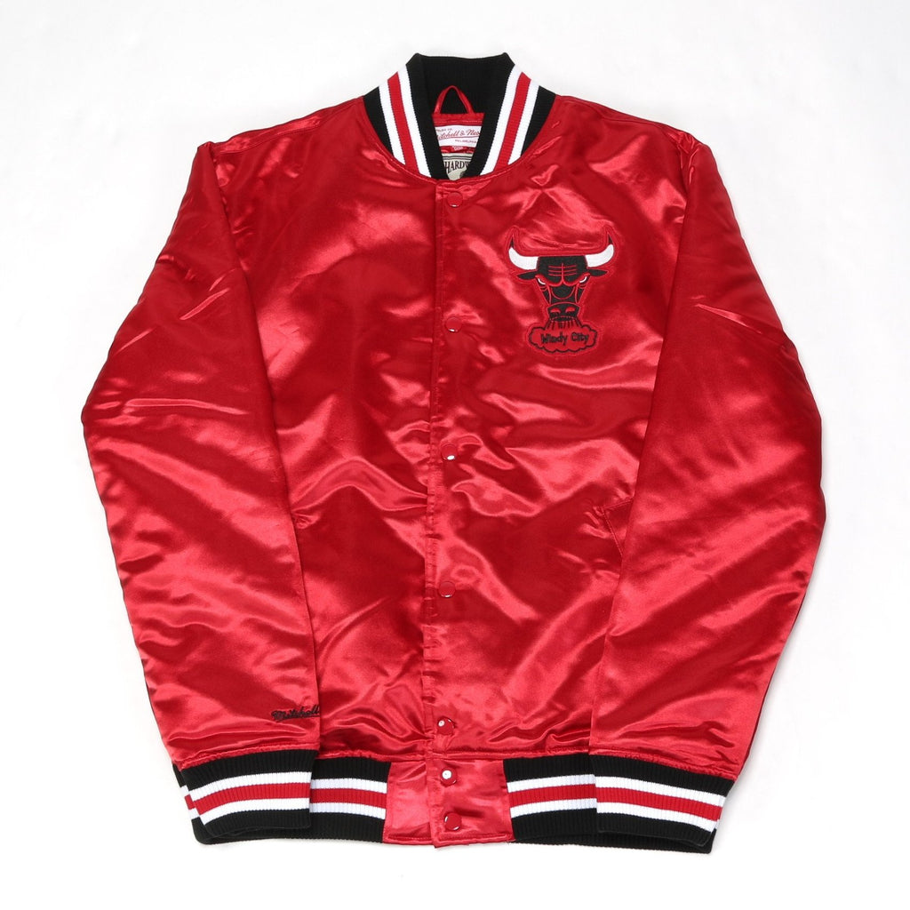 NBA Satin Jacket - (Chicago Bulls) Red