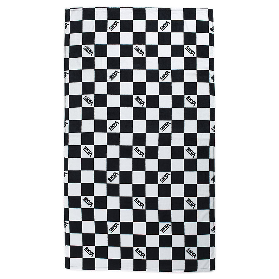 Checkerboard Beach Towel - Black/White Check