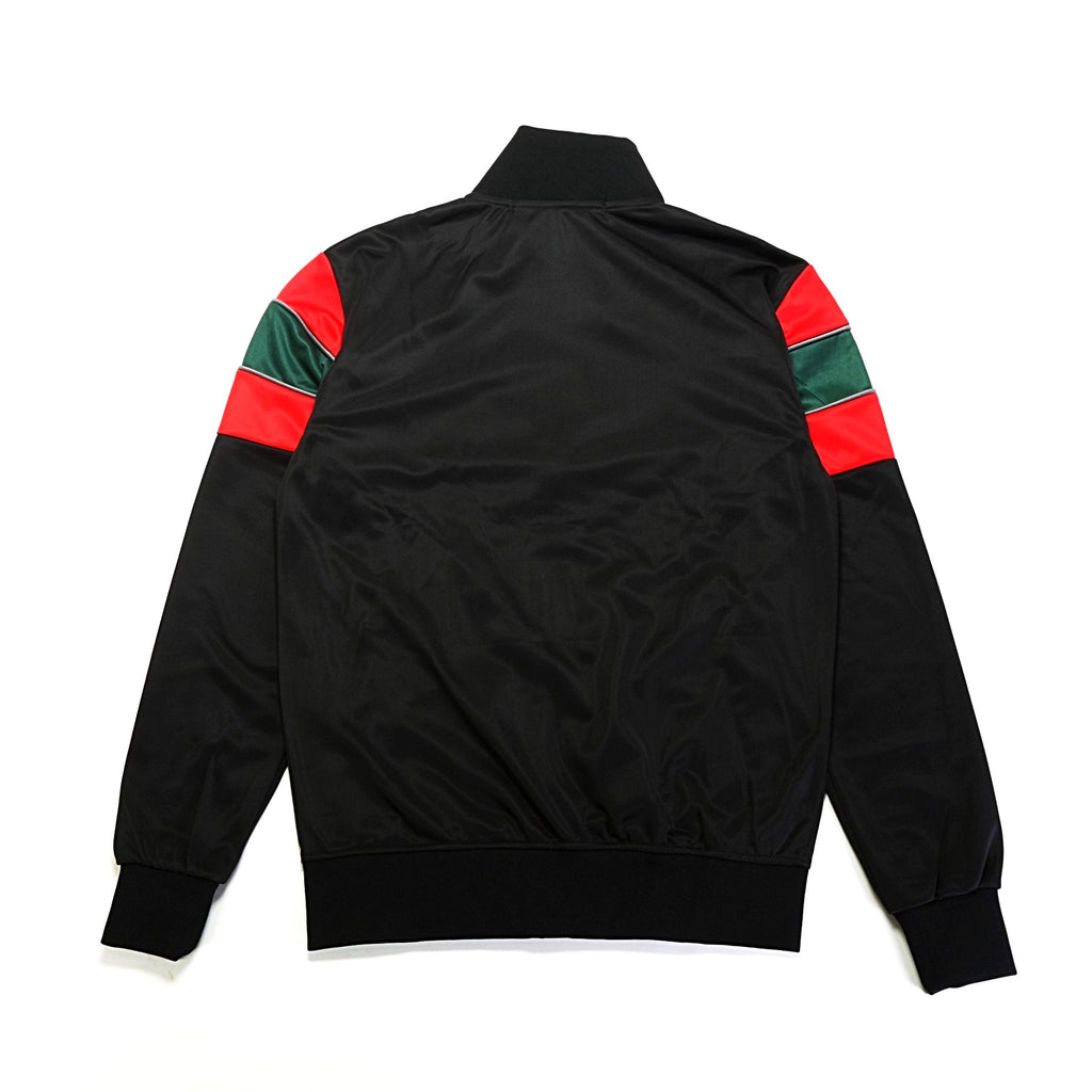 Color Block Track Jacket - Black