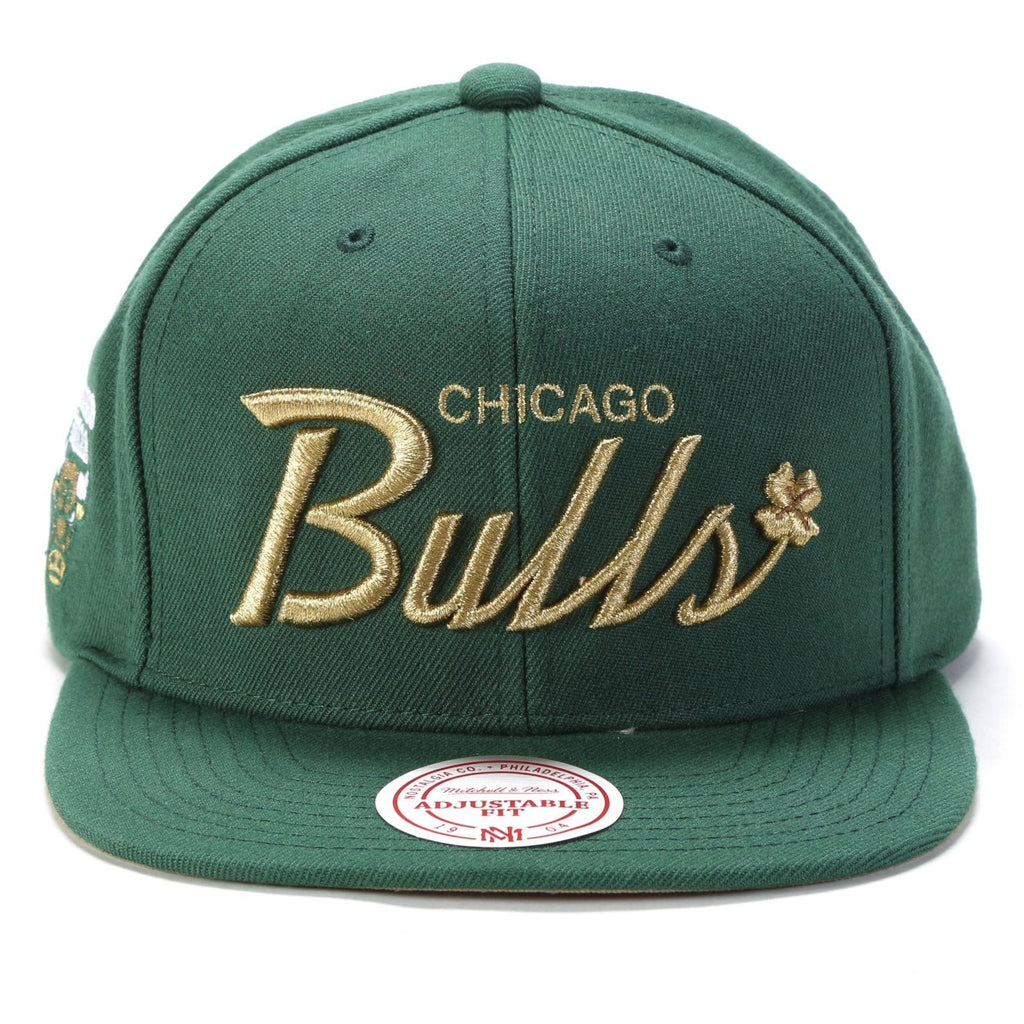 4 Leaf Clover Snapback - (Chicago Bulls) Green/Gold