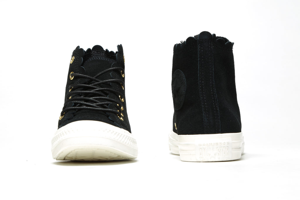 Women's CTAS Hi - (Frilly Thrills) Black/Gold/Egret