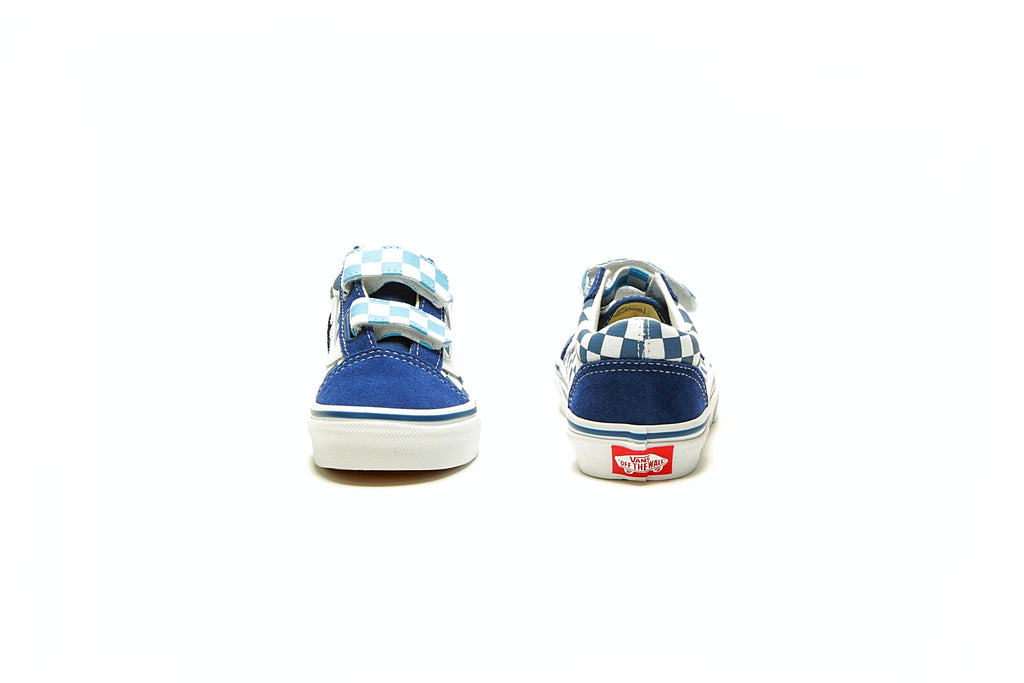 Kids Old Skool - (Checkerboard) True Navy/Bonnie Blue