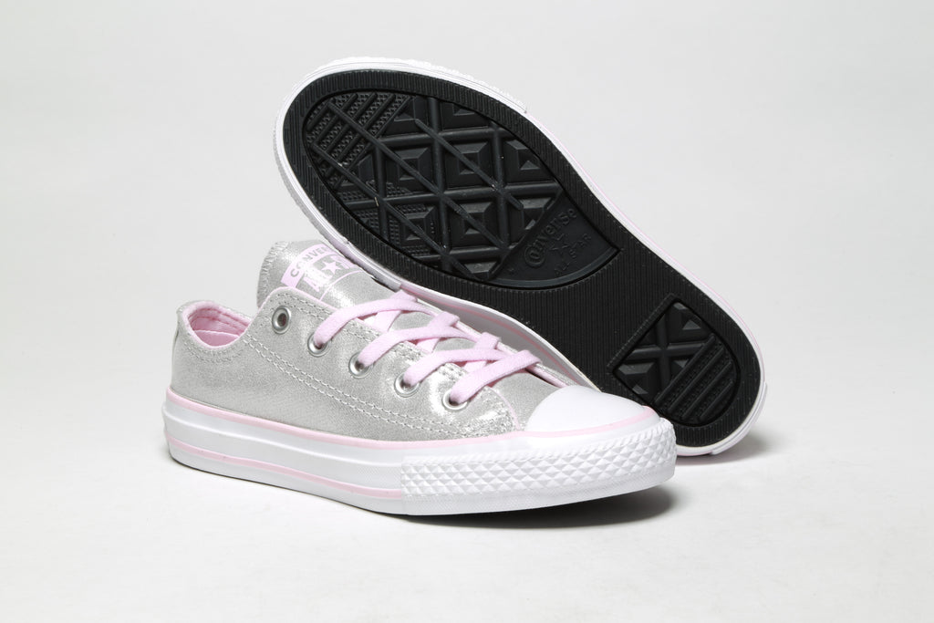 Youth CTAS Ox - (Twilight Court) Mouse/Pink Foam/White